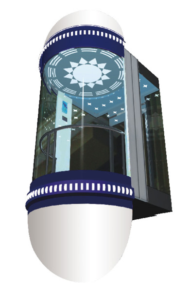 WBJX-G-02 سيارة مصعد بانورامي